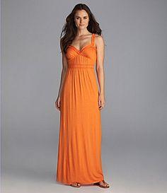 Sexy orange maxi dress!!