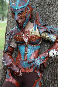 Taken by Tina Dwyer of TTG Photos and Design.  www.facebook.com/TTGPhotosandD… Custom designed dragon armor for my personal character, Sonya Tyburn.  Made and designed by me. Materi...