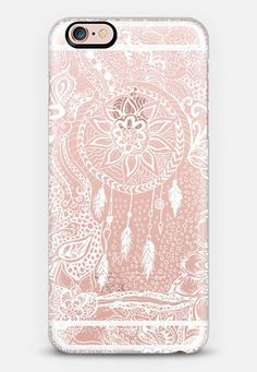 Modern White Dreamcatcher Floral Lace Pattern by Girly Trend for iPhone 6s #must_have #fashion ❤️