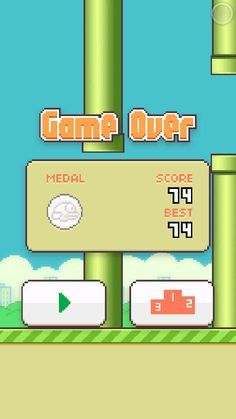 simple game .. but quiet frustated .. lol .. -flappy bird-