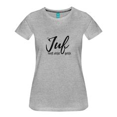 Juf heeft altijd gelijk toch Een T-shirt met deze opdruk is leuk als afscheidscadeautje voor die ene collega stagiaire of juf!