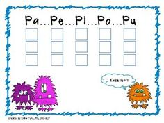 Free! Monster Speech: Apraxia Packet for Early Sound Sequencing