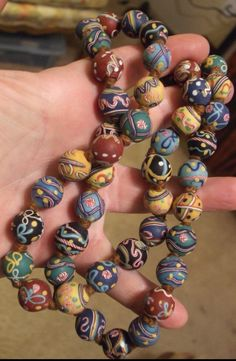 Probably the finest antique Venetian glass beads you will ever see.  Recently sold on eBay for over $1,500.