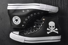 51ff0e21f7be Mastermind JAPAN x Converse MMJ Creaking Skull Chucks All Star High Tops  Black Leather Sneakers