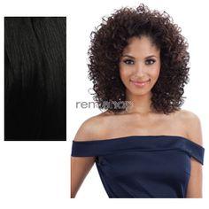Equal (SNG) Drawstring Full Cap Nu Girl  - Color 1B - Synthetic (Curling Iron Safe) Drawstring Half Wig