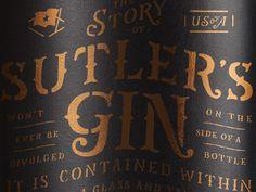 Sutler's Gin Bottle