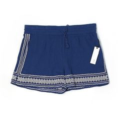 cupcakes and cashmere Shorts ($25) ❤ liked on Polyvore featuring shorts, blue and blue shorts
