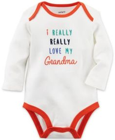 With a sweet slogan and expandable shoulders, this soft cotton bodysuit is perfect for any baby boy. Pair with cozy pull-ons for all day play! Toddler Outfits, Baby Boy Outfits, Kids Outfits, Grandma's Boy, Baby Boy Accessories, Having A Baby Boy, Family Tees, Little Boy Fashion, Baby Necessities