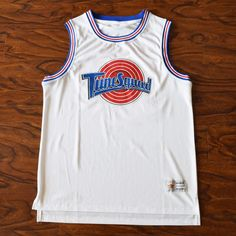 6194201ff350 TUNE SQUAD! Space Jam Basketball Jerseys in White