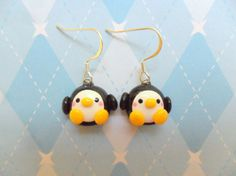 Kawaii Penguin Earrings Polymer Clay Cute Earrings