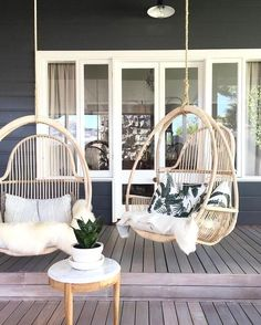 Hanging boho patio chairs backyard in 2019 дом симсов, планы дома мечты, до Outdoor Spaces, Outdoor Living, Outdoor Decor, Outdoor Kitchens, Outdoor Ideas, Alfresco Ideas, Outdoor Life, Exterior Design, Interior And Exterior