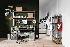 Get inspired by Industrial Office Design photo by Wayfair. Wayfair lets you find the designer products in the photo and get ideas from thousands of other Industrial Office Design photos. Modular Living Room Furniture, Living Room Furniture Inspiration, Furniture Layout, Living Room Modern, Luxury Furniture, Home And Living, Living Spaces, Industrial Office Design, Modern Office Design