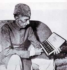 Quad-e-Azam (R.A) examining the First Set of Coins for Currency for Pakistan