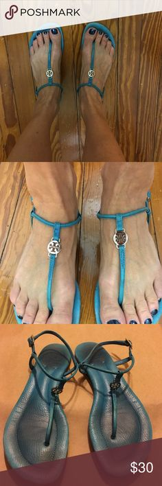 Tory Burch Sandals Turquoise Blue Tory Burch Turquoise blue thing sandal Tory Burch Shoes Sandals