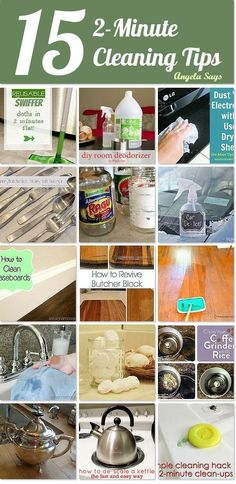 15 2-Minute Cleaning Ideas