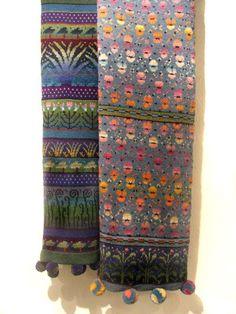Design by Finnish textile artist Sirkka Könönen. Role model for me when studying knitting in early Knitting Charts, Knitting Stitches, Knitting Designs, Hand Knitting, Knitting Patterns, Crochet Patterns, Knitting Scarves, Motif Fair Isle, Fair Isle Pattern