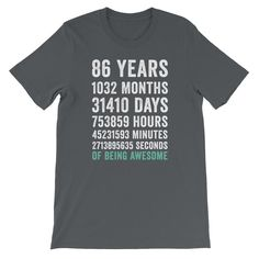 Birthday Gift T Shirt 65 Years Old Being Awesome 46 Year Old Women, 19 Year Old Girl, Old Birthday Cards, Birthday Shirts, 65 Years Old, 24 Years, Cool Lyrics, Old Shirts, Birthday Woman