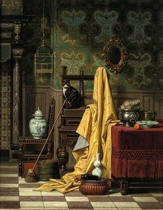 """Carel Jozeph Grips, """"A Domestic Interior"""" (1881)"""