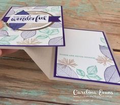 Carolina Evans - Stampin' Up! Demonstrator, Melbourne Australia: Crazy Crafters Blog Hop with Special Guest Rachel Tessman - Rooted In Nature Z Fold #carolinaevans #studioevans #stampinup #30 #2018onstage #rootedinnature #funfold
