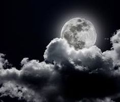Image result for black and white drawing of full moon in clouds style art