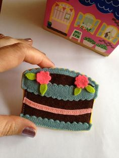 Have Some Cake! Felt Brooch/Pin