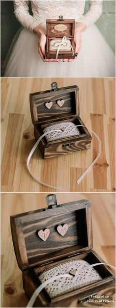 31 Best Wooden Ring Box Images Wooden Ring Box Wedding Ring Box