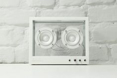 This sustainable see-through speaker by People People alerts user when parts need replacing