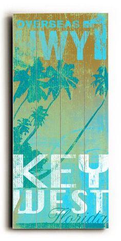 Key West Hwy 1 Vintage Beach Sign: Beach Decor, Coastal Home Decor, Nautical Decor, Tropical Island Decor & Beach Cottage Furnishings