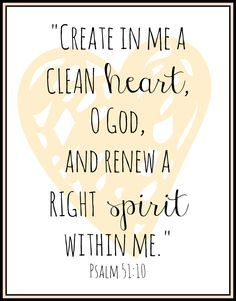 a clean heart quotes - Google Search