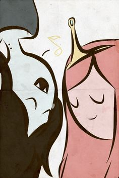 Marceline and Princess Bubblegum - Adventure Time