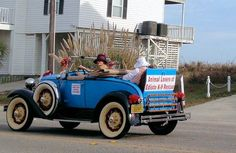 Classic Car Owners get to parade their beautiful vehicles.