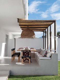 Pergola Ideas For Patio Patio Design, Exterior Design, House Design, Outdoor Rooms, Outdoor Dining, Backyard Patio, Sweet Home, New Homes, Furniture