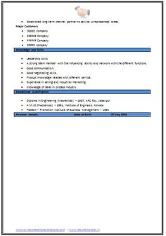 Mechanical Engineering Resume Format (Page
