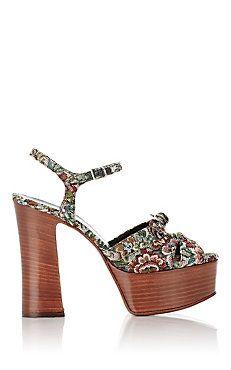 Tapestry Candy Platform Sandals