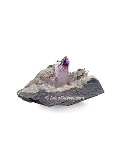 Brandberg Amethyst Crystals on Matrix from Brandberg Area, Brandberg District, Erongo region, Namibia    Size 5 x 4 Inches (1.5 x 1 Inches crystal)    Price $2,800.00