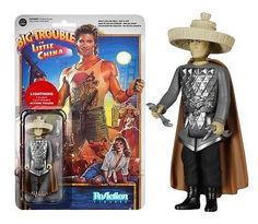 From the 1986 cult classic movie, Big Trouble in Little China comes this Lightning ReAction figure. Relive the epic adventure of bumbling trucker Jack Burton as he found himself in the middle of the mysterious underworld of San Francisco's Chinatown! As 1/3 of the elemental trio - The Storms - and part of Lo Pan's loyal henchmen, Lightning is highly articulated and is ready to battle!