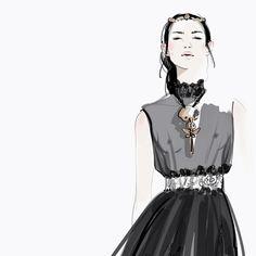Valentino - Illustrations by Katerina Murysina