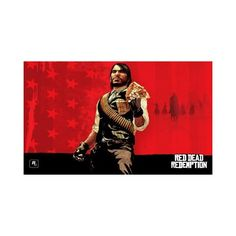 Red Dead Redemption Game Poster Decor 4677 ($26) ❤ liked on Polyvore featuring home, home decor, wall art, red wall art, red home decor, photo picture, photo poster and photo wall art