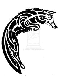 Spirit Coyote Tattoo Design by Sparkus-Clark.deviantart.com on @deviantART