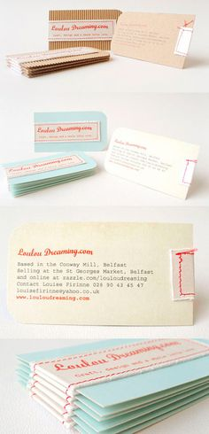 Such an innovative (and cute!) way to literally craft a business card. I can't imagine anyone throwing this away ever.
