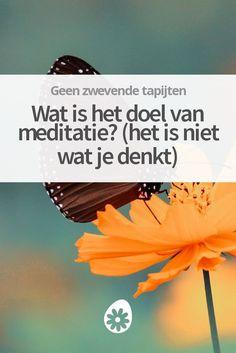 Wat is het doel van meditatie? In dit artikel vertel ik hier meer over. En het is waarschijnlijk niet wat je denkt! Meditation Meaning, Zen Meditation, Burn Out, Aerial Yoga, Hypnotherapy, Spiritual Life, Yin Yoga, Reiki, Law Of Attraction