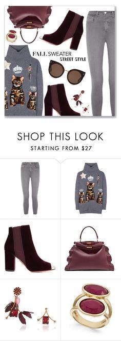 """Cozy Fall Sweaters"" by dressedbyrose ❤ liked on Polyvore featuring L'Agence, Dolce&Gabbana, Aquazzura, Fendi, Marni, INC International Concepts and STELLA McCARTNEY"