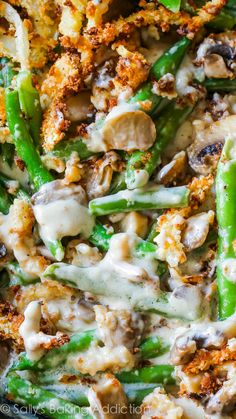 Creamy, comforting green bean casserole made completely from scratch!