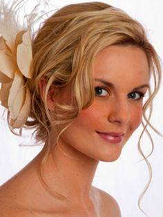 shoulder length hair updo wedding - Google Search