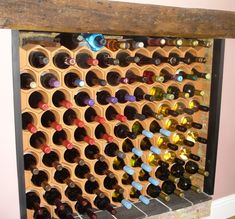 DIY 15 Wood Wine Rack Kit Square X Insert Kitchen by AllAboutHome ...