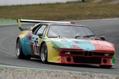 1979 bmw art car will be displayed at saratoga automobile museum picture Bmw M1, Lamborghini Cars, Audi Cars, Andy Warhol, Le Mans, Retro Cars, Vintage Cars, Pittsburgh, Bmw Sports Car