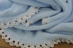 Easy Crochet Edge Baby Blanket Pattern