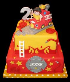 Great birthday cake for a Jr. fireman!