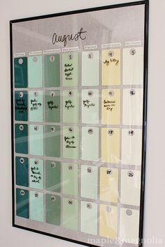 DIY Paint chip calendar