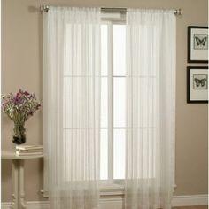 "2 Piece Beautiful Sheer Window Elegance Curtains/drape/panels/treatment 60""w X 63""l (White) -   - http://homesegment.com/home-kitchen/home-decor/2-piece-beautiful-sheer-window-elegance-curtainsdrapepanelstreatment-60w-x-63l-white-com/"
